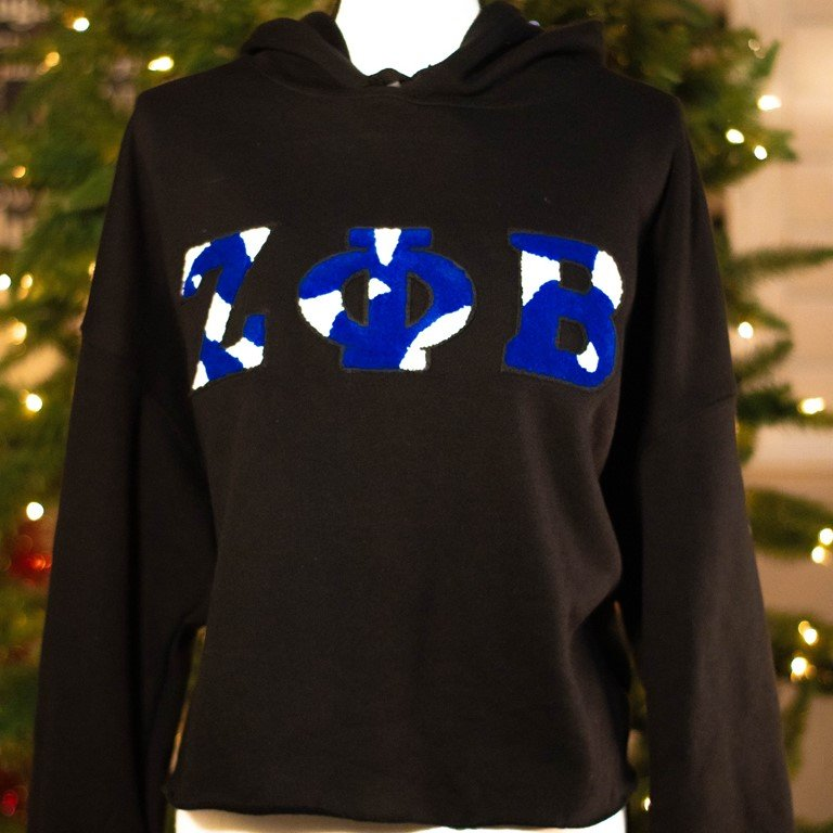 Crop Camo ZPhiB Hooded Sweatshirt