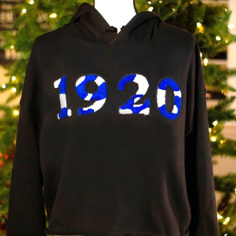 Camo 1920 Sweatshirt for Zeta Phi by Five Pearlz Design