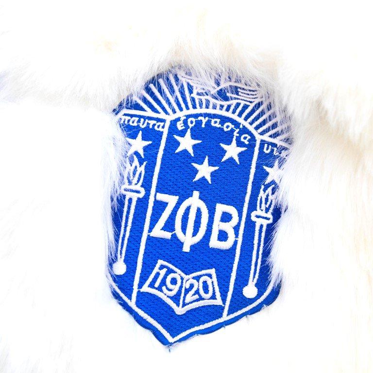 Zeta Phi Beta Crop Fur Coat - White Fur